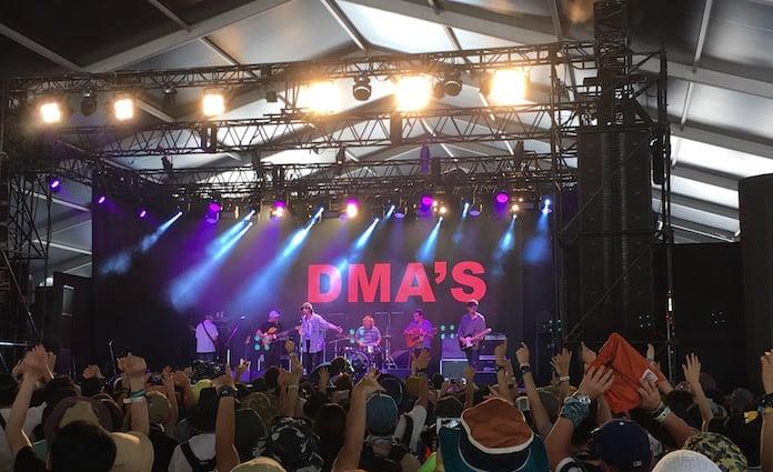 オーストラリアの新人バンドDMA'Sをフジロック2016で見ました