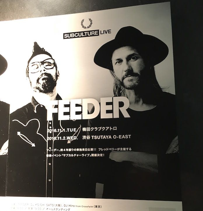 FRED PERRY Presents SubcultureLiveで来日したFEEDER