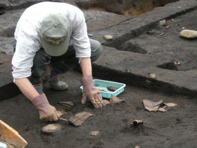 竪穴住居跡の調査