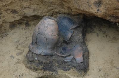 フラスコ状土坑に捨てられていた土器