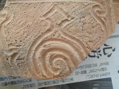 土器の接合作業