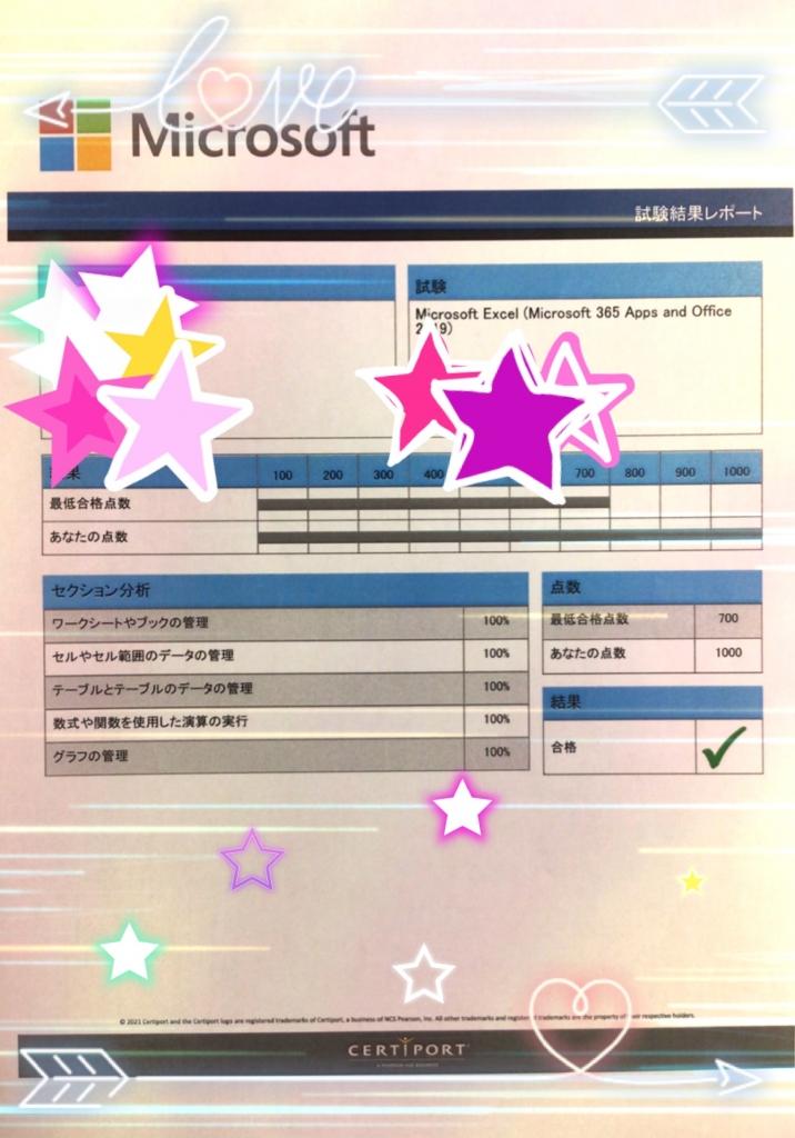 MOS試験合格