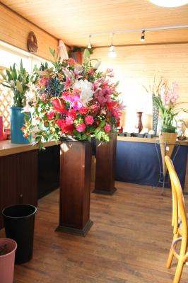 いわき市 小名浜の花屋 花国湘南台店 お祝いのスタンド花