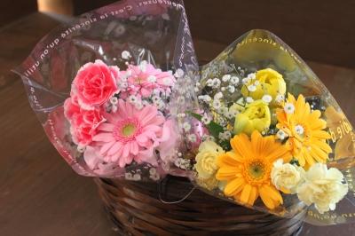 お祝いのアレンジ 花束 卒業 いわき市 小名浜の花屋 花国湘南台店