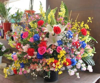 お店 オープン お祝いのスタンド花 いわき市 小名浜の花屋 花国湘南台店