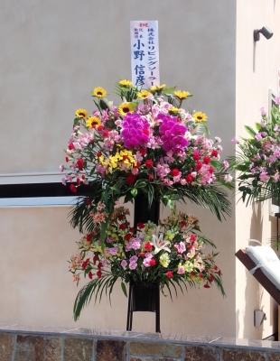 開店祝 スタンド花 いわき市 小名浜の花屋 花国湘南台店