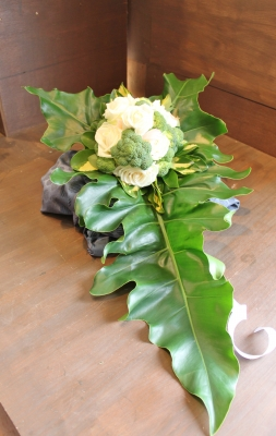 ブロッコリーブーケ 結婚式 いわき市 小名浜 花屋 花国湘南台店