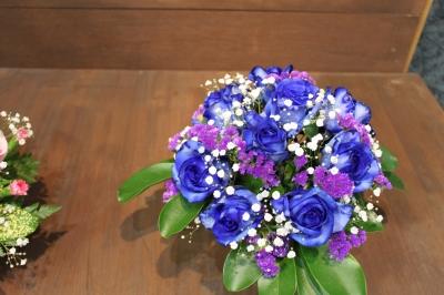 青いバラ ブルーのバラ 花束 アレンジ いわき市 小名浜 花屋 花国湘南台店