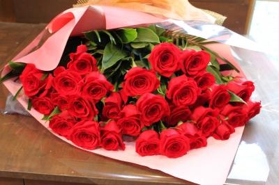赤バラ 花束 豪華 ゴージャス いわき市 小名浜 花屋 花国湘南台店