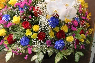 お店オープン お祝い スタンド花 いわき市 小名浜 花屋 花国湘南台店