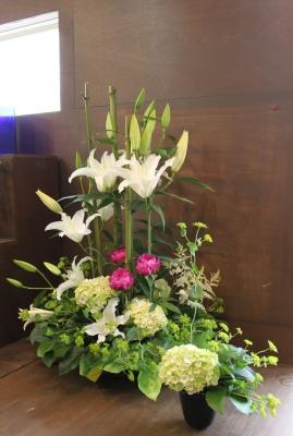 花束 アレンジ お祝い いわき市 小名浜の花屋 花国湘南台店