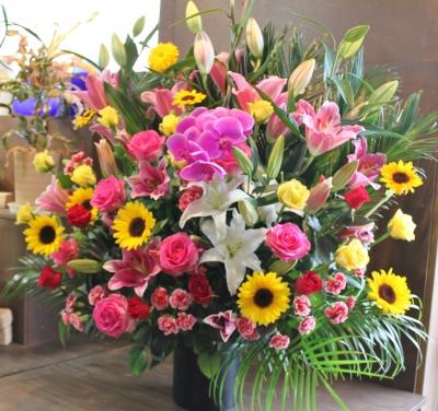 お祝い スタンド花 いわき市 小名浜の花屋 花国湘南台店