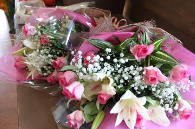 ウエディング 両親贈呈 花束 いわき市 小名浜の花屋 花国湘南台店