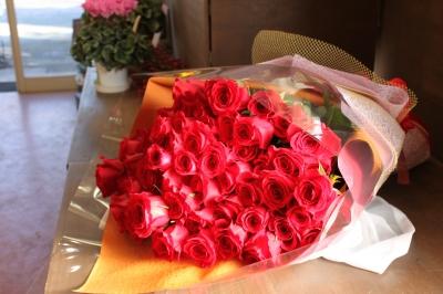赤バラ お祝い 花束 いわき市 小名浜の花屋 花国湘南台店