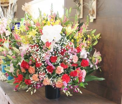お祝い スタンド花 オープン祝い いわき市 小名浜の花屋 花国湘南台店