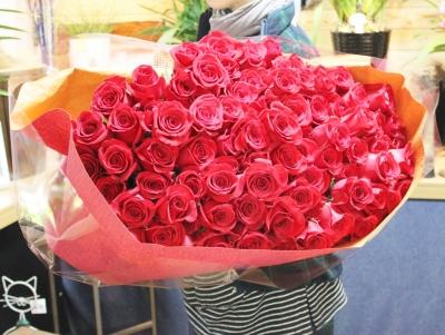 バラ 100本 花束 いわき市 小名浜の花屋 花国湘南台店