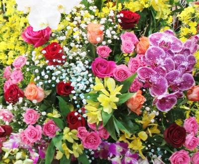 お祝い花 花輪 スタンド 開店祝い いわき市 小名浜の花屋 花国湘南台店