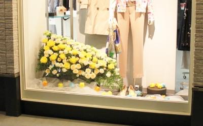 ディスプレイ ショーウインドウ いわき市 小名浜の花屋 花国湘南台店