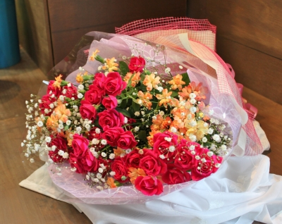 お祝い アレンジ お花 花束 いわき市 小名浜の花屋 花国湘南台店