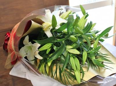 カサブランカ 花束 いわき市 小名浜の花屋 花国湘南台店
