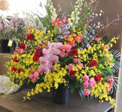 開店祝い スタンド花 いわき市 小名浜の花屋 花国湘南台店