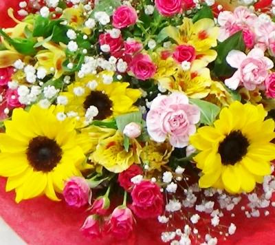 ひまわり 花束 ギフト 誕生日 いわき市 小名浜の花屋 花国湘南台店