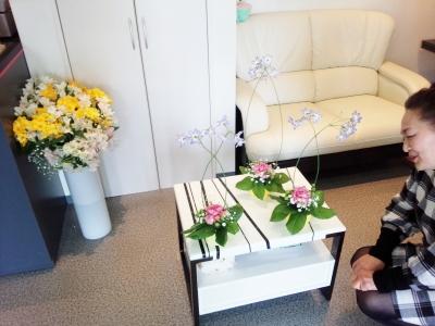 テーブルアレンジ ディスプレイ いわき市 小名浜の花屋 花国湘南台店
