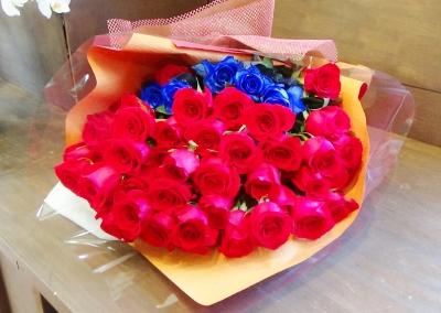 赤バラ おしゃれ 花束 いいわき市 小名浜の花屋 花国湘南台店