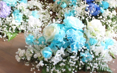 ブルーのバラ 花 いわき市小名浜の花屋 花国湘南台店