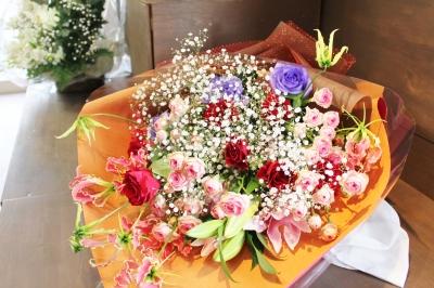 お祝い 花束  お花 ギフト いわき市小名浜の花屋 花国湘南台店