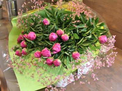 しゃくやく 花束 いわき市小名浜の花屋 花国湘南台店