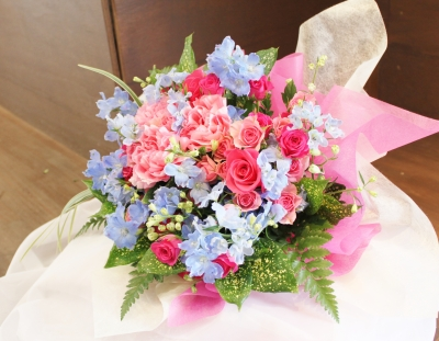 花束 バラ いわき市小名浜の花屋 花国湘南台店