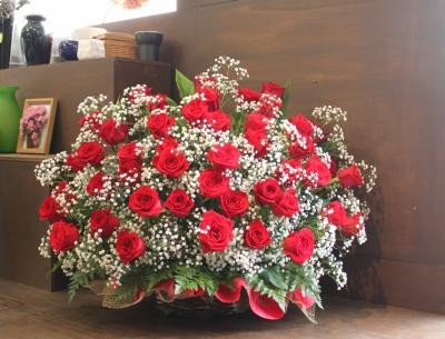 赤バラ、お祝、花束、アレンジ、いわき市,小名浜,花屋,花国湘南台店