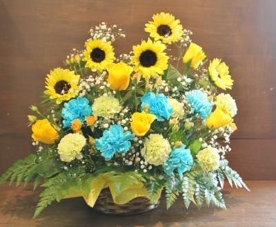黄バラ、お祝、花束、アレンジ、いわき市,小名浜,花屋,花国湘南台店