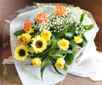 お祝、花束、アレンジ、いわき市,小名浜,花屋,花国湘南台店