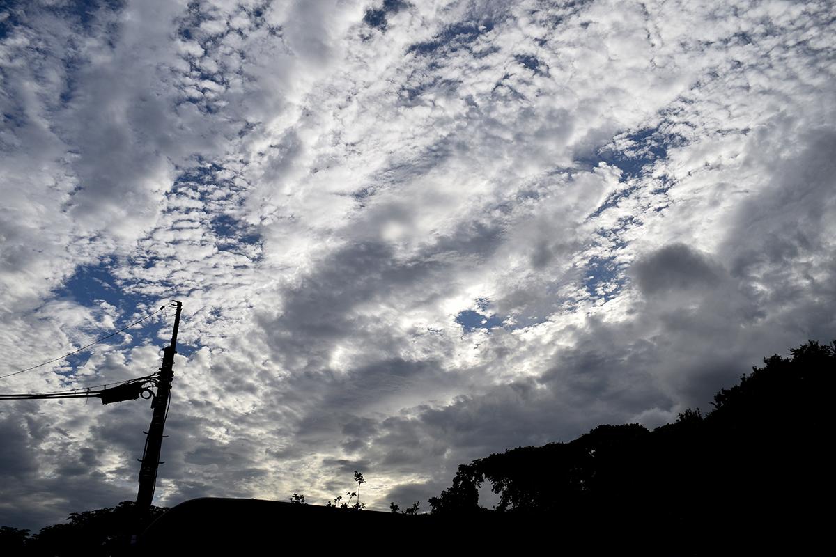 青空がみえてきた空