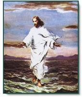 湖を歩くキリスト