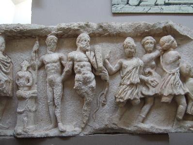 ハトドリアヌス神殿のレリーフ