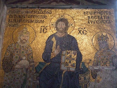 キリストとコンスタンティヌス9世と皇后ゾラ