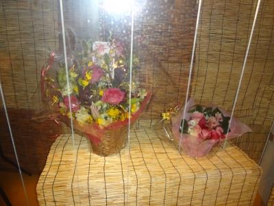 ベランダに飾った花