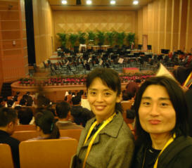 ベルリンフィルのコンサートを前に興奮気味の古田と原野