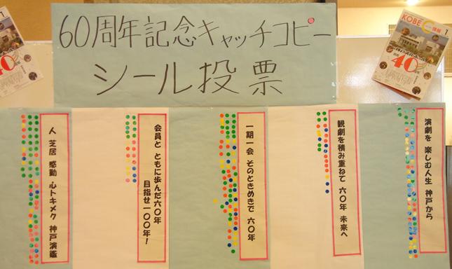 神戸演劇鑑賞会60周年記念のキャッチコピー投票