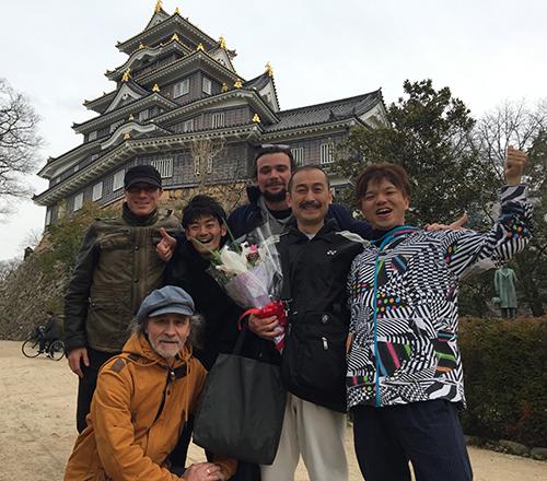 2018検察官ツアー岡山城前にて
