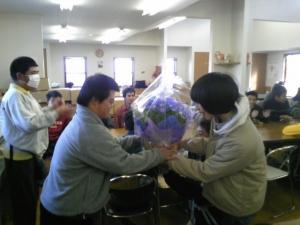 お花の贈呈