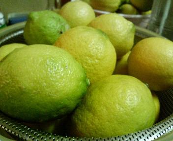 レモン洗って、水気をふいた後