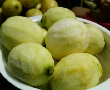 レモンをむいたあと。この大量のレモンをどうするか・・・汗
