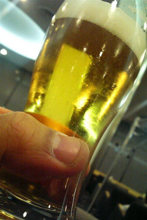 ビールで一人打ち上げ!