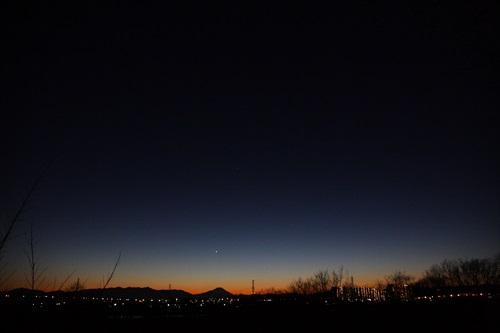 大晦日、夕暮れ
