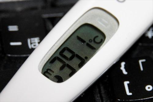 体温計39.1度