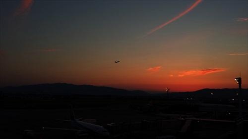 伊丹空港サンセット